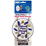 OOK 50470 Deluxe Plate Hanger with Steel Pro Supports Up to 30 Pounds, 5-Inch to 7-Inch