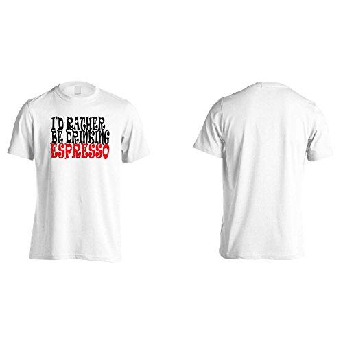 Ich würde VIELMEHR TRINKEN ESPRESSO Lustige Neuheit Neu Herren T-Shirt h98m