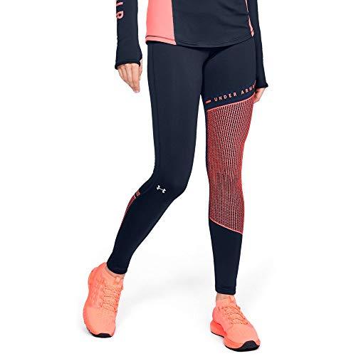 Under Armour Women's Cold Gear Block Leggings, Academy (408)/Metallic Silver, Large