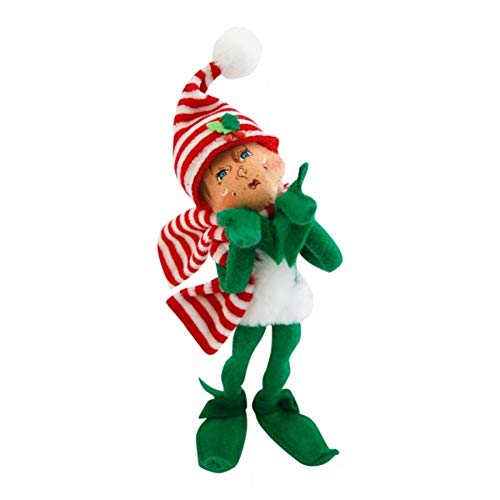 "2014 Annalee Dolls 9"" MerryMint Elf - Green for Christmas, Posable"