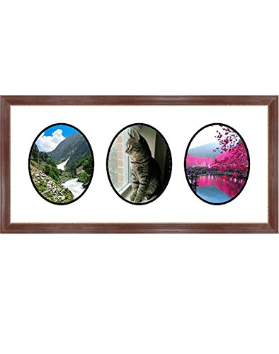 (Frames by Mail Triple Oval Opening Collage Frame for 5