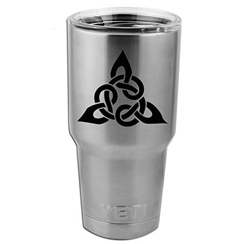 Triangular Celtic Cross Knot Vinyl Sticker Decal for Yeti Mug Cup Thermos Pint Glass (4
