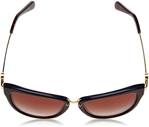 Amazon.com  Michael Kors ABELA II MK6039 Sunglasses 314713-56 - Dk  Tortoise  Blue Frame, Smoke Gradient  Clothing 4fbaddf3af