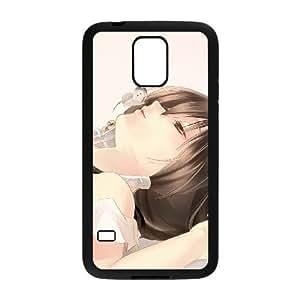 samsung_galaxy_s5 phone case Black Anime Sexy Girl ZLA4597810