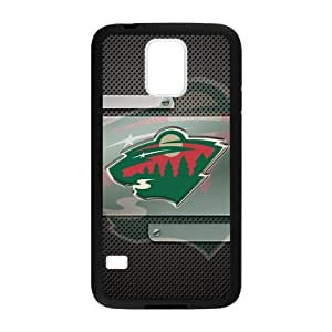 Changetime Funny Fashion NHL Minnesota Wild phone case, Minnesota Wild for Samsung Galaxy S5 Faceplate Hard Back Protector Case Snap On Cover fits Sprint, Verizon, AT&T Wireless (Laser Technology)