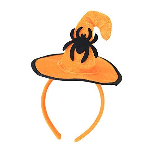856store Big Promotion Halloween Decoration Witch Pumpkin Bat Spider Headband Kids Hairband Party Hat -
