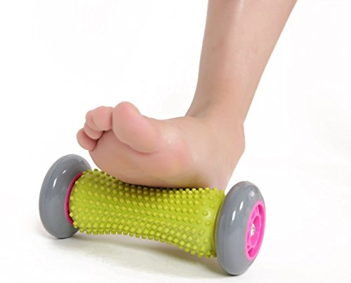 PROLIFE Best Foot Massage Roller, Plantar Fasciitis, Heel, Foot Arch Pain Relief, Stress Relief, Muscle Pain Relief Tool (Yellow).