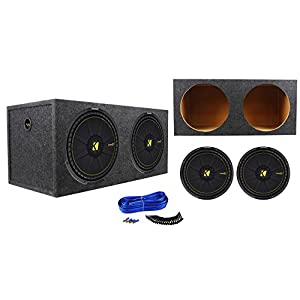 (2) Kicker 44CWCS154 CompC 15 2400w Subwoofers+Sealed Sub Enclosure Box