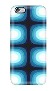 High Grade ZippyDoritEduard Flexible Tpu Case For Iphone 6 Plus - Op Art Blue Blobs