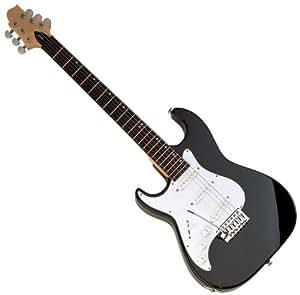 samick mb1 lefty black finish malibu series 6 string electric guitar musical. Black Bedroom Furniture Sets. Home Design Ideas