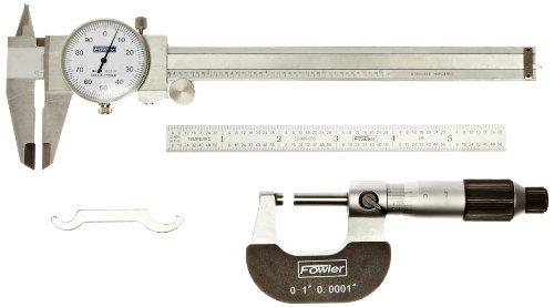Fowler 52-095-007 Toolmakers Universal Measuring Set, 6