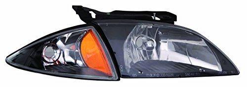 DEPO (335-1102F-US2) Chevrolet Cavalier Head Lamp and Signal Lamp Unit with Black Bezel