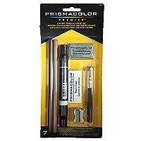Prismacolor 3750 Premier - Kit de accesorios para lápices de colores con licuadoras y borradores, juego de 7 piezas, múltiple
