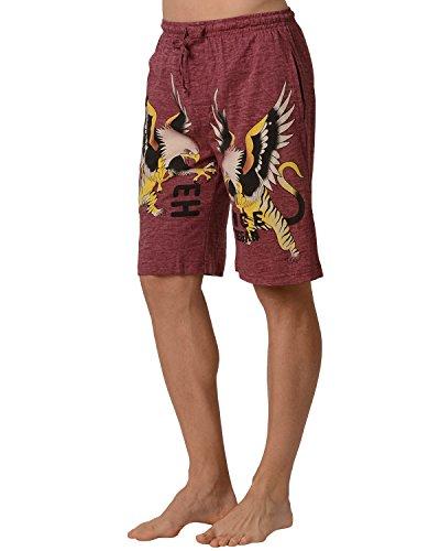 - Ed Hardy Men's Eagle Tiger Lounge Shorts - Rose Sand - Rose