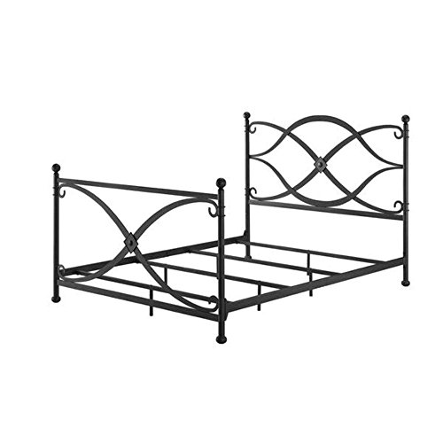 Metal Bed Frame Queen Size With Headboard Footboard No Box