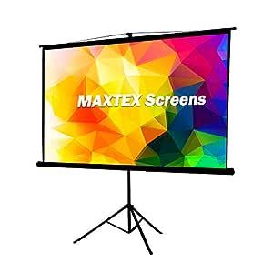 MAXTEX - Pantalla para proyector con Soporte, Pantalla de ...