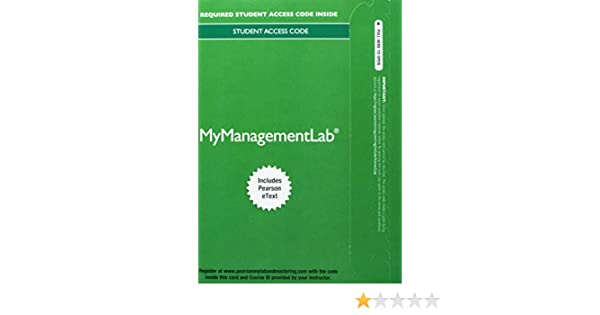 Amazon Mylab Management With Pearson Etext Standalone Access