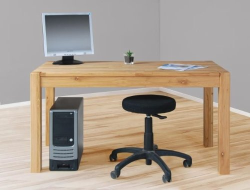 Escritorio para una mesa de comedor 140 cm de madera de roble ...