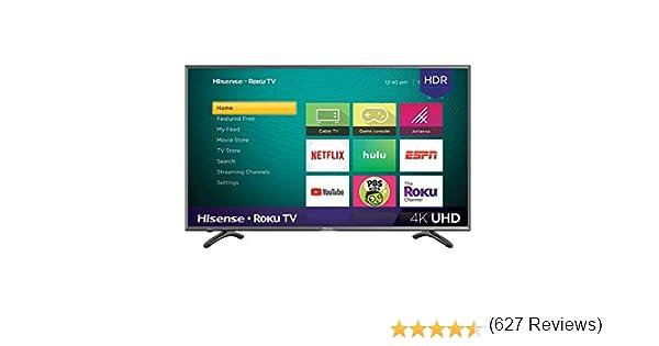 Hisense 4K Ultra HD Roku Smart LED TV HDR (2019): Amazon.es: Electrónica