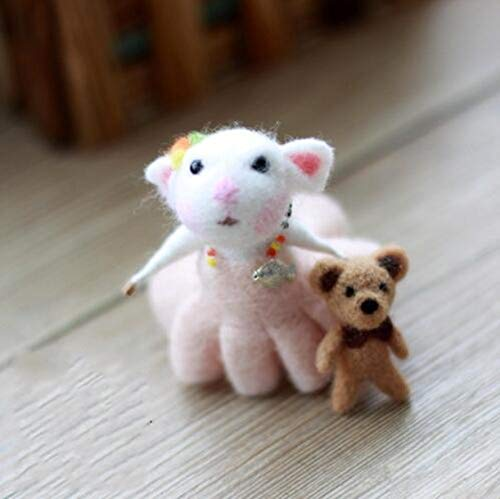 WellieSTR Little Felted Mouse Kits : Easy Projects for Making Adorable Needle Felted Animals (Needle Felted Mouse)