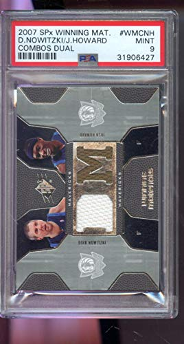 2007-08 Upper Deck SPx Winning Materials Dirk Nowitzki Josh Howard Game-Used Game-Worn Jersey NBA Graded Basketball Card MINT PSA 9