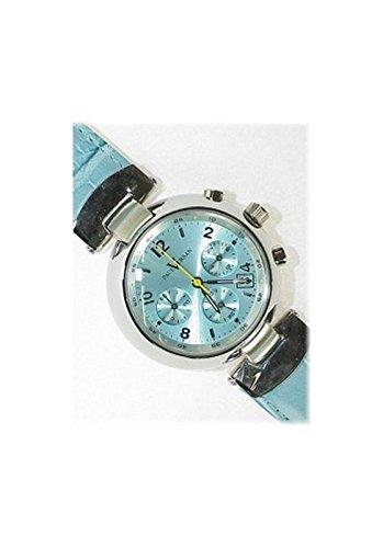 Paul Versan - Reloj señora acero y cuero, color acero y azul celeste: Amazon.es: Relojes