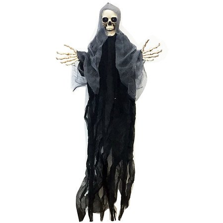 YIKES in the yard Reaper with Wings Light Up Hanging Decoration36in