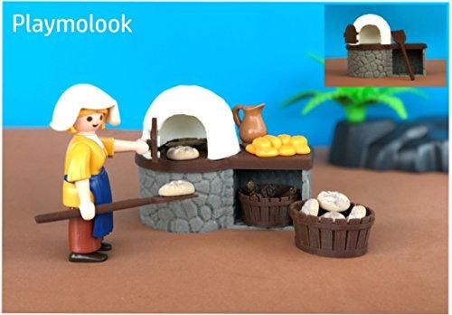 Horno de leña medieval para dioramas escala Playmobil - Figuras y ...