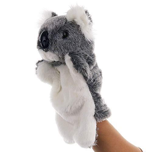 SweetGifts Koala Bear Hand Puppets Plush Animal Toys for Imaginative Pretend Play Stocking Storytelling Gray Bear Plush Hand Puppet