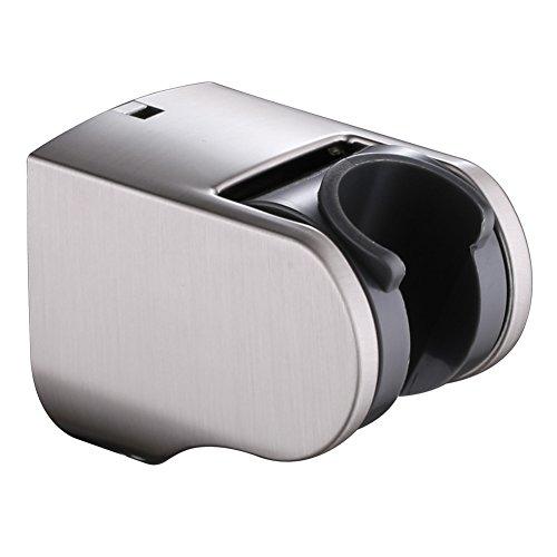 Adjustable Handheld Showerhead Holder, Angle Simple Shower Handle Holder Shower Wand Bracket Cradle Bathroom Shower Hose Hanger Bidet Sprayer Holder Wall Mount, Brushed Nickel