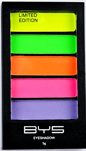 - BYS 5 Shade Neons Eyeshadow Compact Eye Makeup Palette with Applicator
