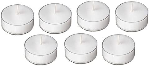 D'Light Online Clear Cupped 5 Hours Long Burn Time Unscented White Tealight Candles in Clear Plastic Cups for Home Decor, Wedding, Holiday, Restaurants, Spa or as a Emergency Candle - Set of 125