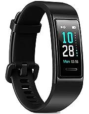LATEC Fitness Armband, Smartwatch Wasserdicht IP68 Fitness Tracker mit Pulsmesser Farbbildschirm Aktivitätstracker Fitness Uhr Schlafmonitor Schrittzähler Stoppuhr Anruf SNS SMS für Android iOS