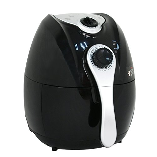 ZENY 1500W Oil Free Electric Air Fryer 4.4QT Capacity Low-Fat Non-stick Multi-Cooker w/ Temperature Control, Detachable Basket and Handle