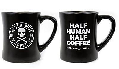 Death Wish Coffee Diner Mug Set - 2 Pack (1 Logo and 1 Meme Mug)
