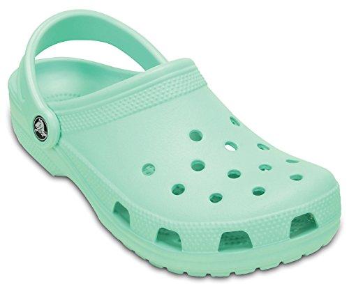 [Crocs Classic New Mint shoes sandals clogs with back-strap] (New Mint)