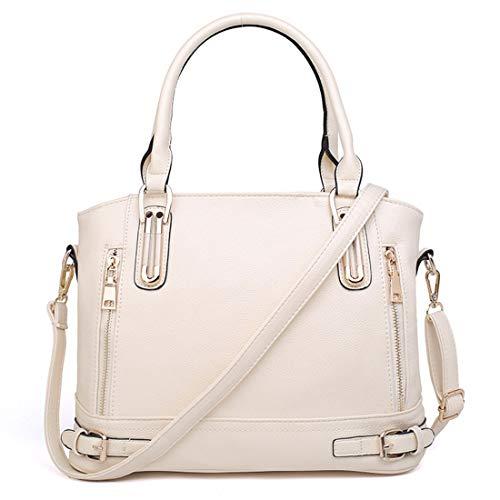 nero Grande diagonale Casual capacità Lady spalla colore Lychee Kervinzhang impermeabile borsa Bianco modello dqXPwx5