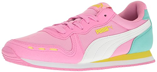PUMA Girls' Cabana Racer Mesh Jr Chukka Prism Pink White, 6 M US Big Kid (Future Cat Puma Casual)