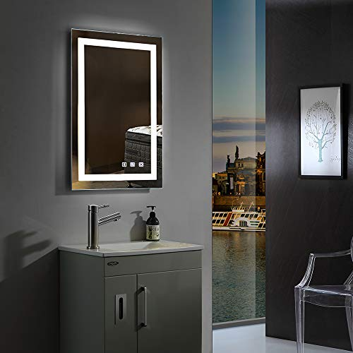 32×24in. Dimmable Led Illuminated Bathroom Mirror Wall Mounted Bathroom Vanity Mirror with -
