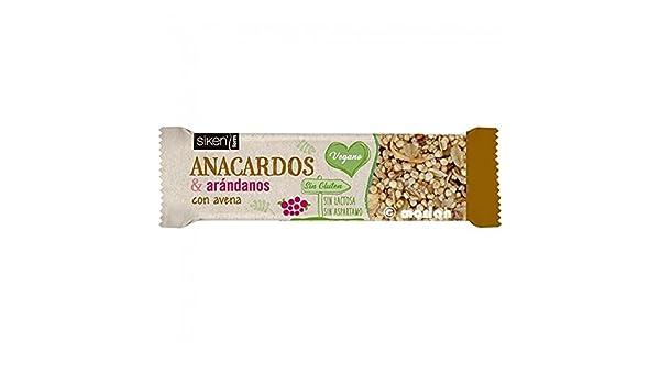 Siken Form Barrita Anacardos & Arándanos con Avena, 1Ud x 36g: Amazon.es: Alimentación y bebidas