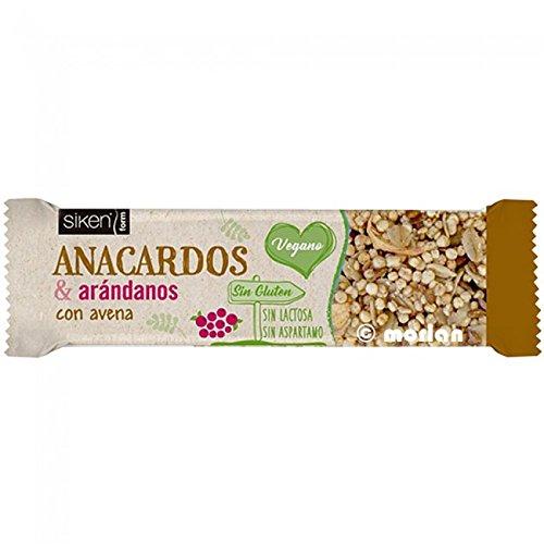 Siken Form Barrita Anacardos & Arándanos con Avena, 1Ud x 36g