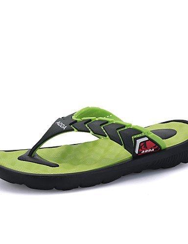 ShangYi Herren Sandaletten Herrenschuhe - Outddor / Lässig - Pantoffeln / Flip-Flops - Kunststoff - Schwarz / Blau / Gelb / Grün Green