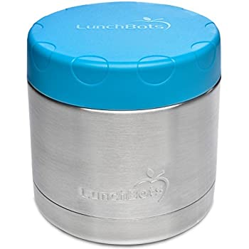LunchBots Wide Thermal 16 oz. All Stainless Steel Bowl - Insulated Food Container Stays Warm 6 Hours or Cold for 12 Hours - Leak Proof Soup Jar for Portable Convenience - Aqua