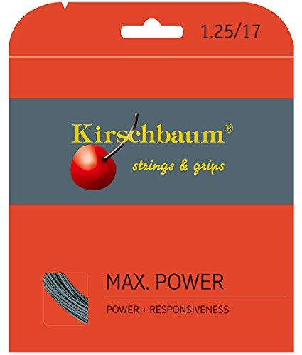 Kirschbaum Reel - Kirschbaum Reel MAX Power String, Grey/Silver, 17-Gauge