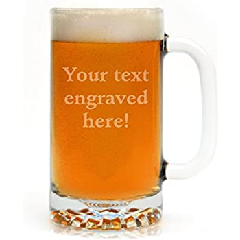 Personalized Beer Mug Engraved with Your Custom Text