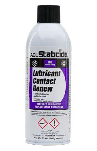 ACL Staticide 8606 Lubricant Contact Renew, Aerosol, 12 oz.
