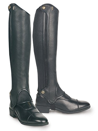 (Tredstep Ireland Deluxe Half Chaps - Black Calf 16/Height 17)
