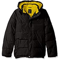 Nautica Boys' Water Resistant Signature Bubble Jacket with Storm Cuffs