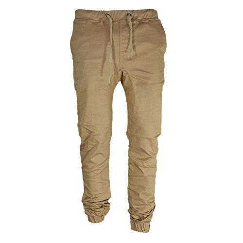 Chen Mens Twill Jogger Pants Hip Hop Harem Casual Trousers Running Bottom Pants (W27