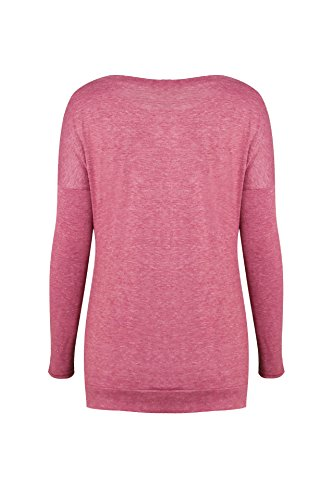 T Sweat Chemisiers Jumpers Mode ulein Shirts Casual Femmes Rond Printemps Longues Automne Pulls Manches Col et Shirt Fr Fox Hauts Rose Slim Tops ZpxwgqOHq